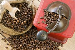 Coffee grinder on background Royalty Free Stock Photos