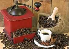 Coffee grinder on background Stock Images