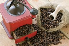 Coffee grinder on background Royalty Free Stock Photography