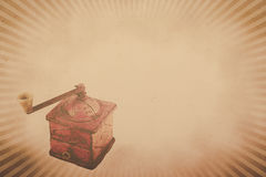 Coffee grinder background. Vintage  coffee grinder background with copy space (horizontal Stock Image