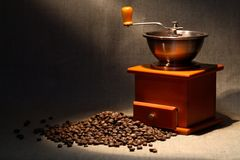Coffee Grinder And Beans Royalty Free Stock Photography