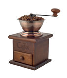 Coffee grinder with beans Royalty Free Stock Photos