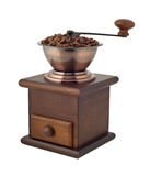 Coffee grinder with beans cutout Royalty Free Stock Photos