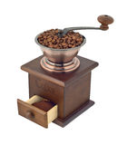 Coffee grinder with beans and ground cutout Stock Photo