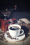 Coffee Grinder and beans Royalty Free Stock Photo