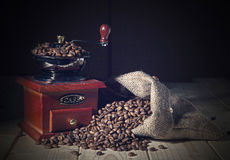 Coffee Grinder and beans Royalty Free Stock Image