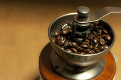 Coffee Grinder. Classic Manual Coffee Grinder With Steel Gear Stock Photos