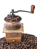 Coffee grinder and coffee beans Royalty Free Stock Images