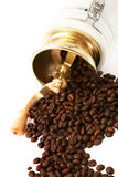 Coffee grinder with coffee beans Stock Photo