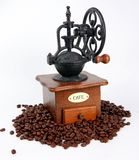 Coffee-grinder with coffee bins Royalty Free Stock Images