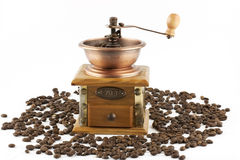 Coffee grinder with coffee Royalty Free Stock Images