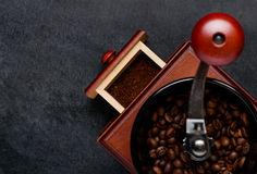 Coffee Grinder with Copy Space Area Royalty Free Stock Images
