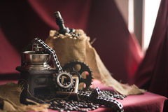 Coffee grinder with engine objects Stock Photo