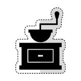 Coffee grinder isolated icon Royalty Free Stock Photo
