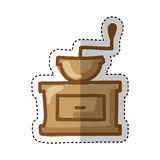 Coffee grinder isolated icon. Vector illustration design Stock Photography
