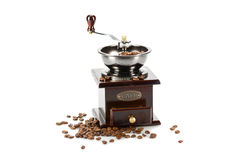 Coffee grinder isolated on a white background Stock Images