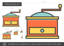 Coffee grinder line icon. Coffee grinder vector line icon isolated on white background. Coffee grinder line icon for infographic, website or app. Scalable icon Royalty Free Stock Photography