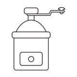 Coffee grinder manual image outline. Illustration eps 10 Stock Image