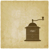 Coffee grinder mill old background Stock Photography