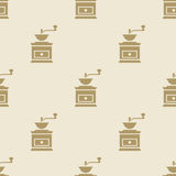 Coffee grinder mill pattern tile background seamless. Set Royalty Free Stock Photography