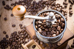 A coffee grinder with natural light Stock Photography