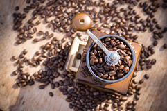 A coffee grinder with natural light Royalty Free Stock Photo