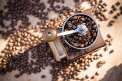 A coffee grinder with natural light Royalty Free Stock Images