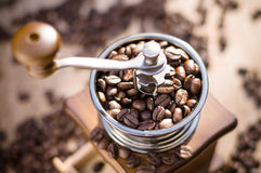 A coffee grinder with natural light Stock Photos