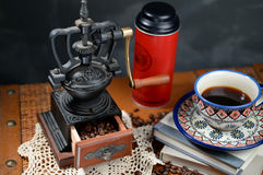 Coffee and Grinder. This is nice coffee,and Hand Coffee,very nice Royalty Free Stock Image