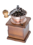 Coffee Grinder over white background. A hand Coffee Grinder over white background Royalty Free Stock Images