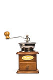 Coffee grinder placed on white background. Royalty Free Stock Photography