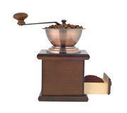 Coffee grinder profile cutout stock photography