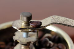 Coffee grinder. Savor a cup of coffee with the grinder once Royalty Free Stock Photo