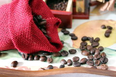 Coffee grinder. Savor a cup of coffee with the grinder once Royalty Free Stock Photography