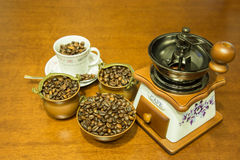And coffee grinder. Stock Image