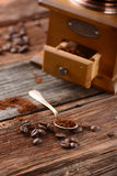Coffee grinder on the table Stock Photography