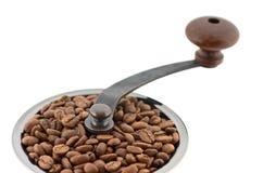 Coffee grinder top closeup royalty free stock photos