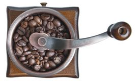 Coffee grinder top view Stock Images