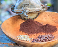 Coffee grinder. Traditional coffee grinder of Thailand stock photos