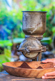 Coffee grinder. Traditional coffee grinder of Thailand royalty free stock image
