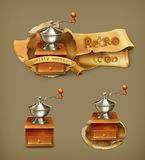 Coffee grinder vector icons Stock Image