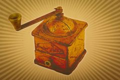 Coffee grinder vintage background Stock Image
