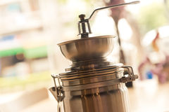 Coffee grinder vintage closeup Royalty Free Stock Photography