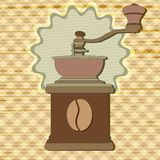 Coffee grinder in vintage style vector Royalty Free Stock Image