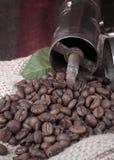 Coffee grinderon coffee beans Royalty Free Stock Photos