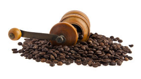 Coffee-grinders and coffee Stock Photography