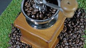 Coffee grinders vintage stock video footage