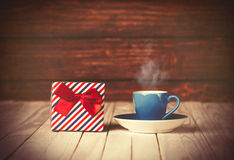 Coffee gringer and gift box Royalty Free Stock Photo
