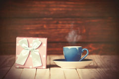 Coffee gringer and gift box Royalty Free Stock Images