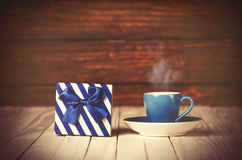 Coffee gringer and gift box Stock Photo